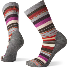 Smartwool Hike Light Margarita Crew sokker Damer, grå/farverig